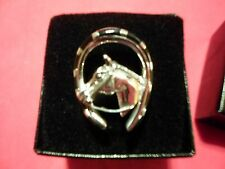 Santa Fe Style Black Onyx Horse Ring in 925 Sterling Silver-Size 8-5.65 Carats