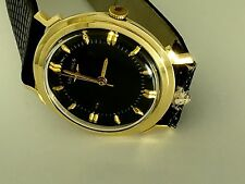 14K Solid Gold men women Longines Watch With Black Dial 34mm.