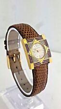 Authentic Christian Dior D82-100 Women's Watch Silver Dial Quartz with Diamonds