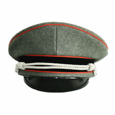 WW2 GERMAN ELITE OFFICER RED BRIM HAT OFFICER CAP WOOL CAP WITH SILVER CHIN CORD