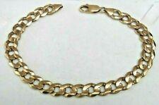 "10k Yellow Gold Men's Heavy Link Bracelet 9.5"" Local Estate Piece *Just Gorgeous"
