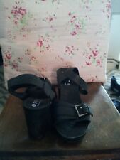 Office black studded sandals size 40 uk size 7
