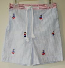 NWT Bella Bliss Embroidered Pirates & Ships Bathing Suit Boy's Size 24 Month