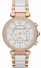 NEW Michael Kors MK5774 Rose Gold Parker White Acetate Ladies Watch