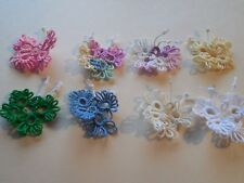 Tatted Butterflies *9* For Crazy Quilts Scrapbooks Cards Applique Tatting Lace