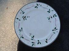 Christopher Stuart Holiday Splendor Green Holly White Bone China Dinner Plate