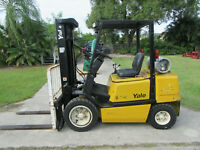 "Yale  GLP060 6000 LB Forklift Propane Side Shift  - Lift 187"" 1475 hrs Pneumatic"