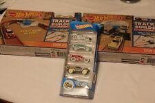 Track Builder Turn Kicker + Spin Launch Hot Wheels + 5 Pack Cars Hotwheels NICE