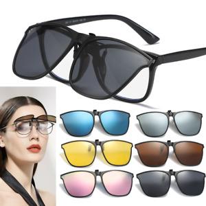New Clip on Sunglasses Polarized Unisex Flip up Glasses Outdoor Driving UV400
