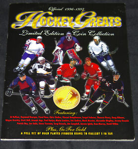 1996-97 Got-Um Hockey Greats 13 Coin+Book Limited Edition