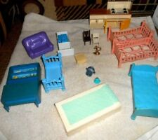 Vintage Dollhouse Lot Many Brands Rare Telephone Booth See Pics Nice
