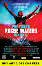 ROGER WATERS 2018 Laminated Australian Tour Poster