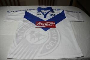 T-Shirt Vintage Atletico Celaya Brand Joma Size XL of The No 8 Michel Coca-Cola