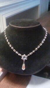 Antique paste necklace.