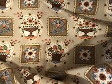 "Vtg Fabric 35"" Mid Century Dutch Colonial Combed Cotton Waverly-Middletown BTY"