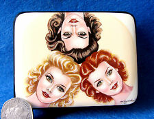 Russian small LACQUER Box PIN-UP GIRLS BLOND BRUNETTE RED HEAD HAND PAINTED GIFT