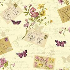 Sophie Conran Cartes Postales Maison Papier Peint Floral Mica Points Forts Crème