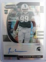 2020 Panini Prizm Draft Raequan Williams Rookie RC AUTO Hyper /75 SSP Eagles