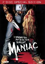 MANIAC 2 DISC SPECIAL EDITION (Dvd,2007) NEW&SEALED Uncut Video NASTY RARE!