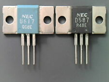 1 pair NEC / TOS 2SD587/2SB617  D587/B617 TO-3P complementary Transistors NOS