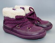 """MAXI MOON INF""Clark's Baby Girl's Purple Leather Boots size 5.5 F."