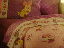 New 4 piece Disney Store Minnie Mouse Full Sheet set