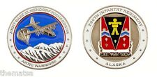 ARMY AIR FORCE ARTIC WARRIORS 509TH INFANTRY ELMENDORF RICHARDSON CHALLENGE COIN