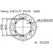 Kettenrad TRIUMPH Sprint900  Baujahr 93-98 mit 46 Zähnen