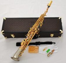 Rose Brass Professional Soprano Saxello saxophone Cupronickel bell SAX High F#G
