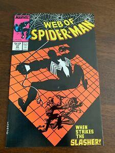Web of Spider-Man #37 (Apr 1988, Marvel) The Slasher NM