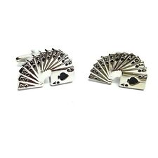 Pack of Cards Cufflinks - Silver Coloured (PSN015)
