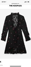 Gorgeous The Kooples Black Lace Cherry Dress BNWT Size 10 To 12 (3)