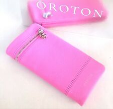 New OROTON Bueno Soft Fold Wallet Purse Clutch Leather Watermelon Pink RRP$225