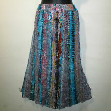 Skirt Fits S M L XL XXL Plus Broomstick Black Blue Red Snake Skin Print NWT KK