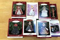 Lot of 8 Barbie Hallmark Keepsake Collector's Ornaments, 1995-1999 NEW IN BOX