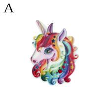 10pcs Flat Back Resin Cabochon Resin Unicorn DIY Decor Craft Embellishment M MEC