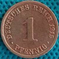Moneda Monedas Alemania 1915Aa 1 Peniques Ref 0278