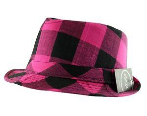 Classic Lumberjack Check Trilby Fedora Cap Hat