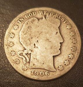 USA 1906 D Barber Half Dollar - Silver (3)