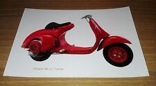 Fotografia Formato Digitale Vespa 98 cc Corsa Rosso Modello Piaggio Rarissimo