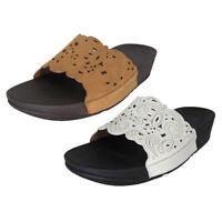 FitFlop Womens Flora Slide Slip On Sandal Shoes