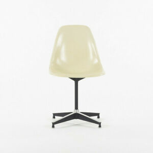 1954 Herman Miller Eames PSC Side Shell Chair with Rare 671 Base and Ivory Shell