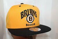 Boston Bruins Mitchell & Ness NHL MTC Snapback,Hat,Cap   Vintage Hockey      NEW