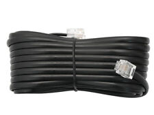 4 m Telefon Anschluß Kabel 3* RJ11 Stecker 6P4C schwarz Telefon Fax Modem Kabel