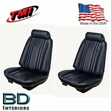 1969 Chevy Chevelle Front Bucket Seat + Rear Upholstery Black by TMI - IN STOCK!