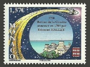 MONACO 2008 SPACE HALLEY COMET SET MNH