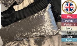 Bolster Pillow Crushed Velvet Pillowcase Cushion Cover 2ft6 3ft 4ft 4ft6 5ft 6ft
