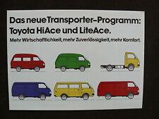 TOYOTA Transporter-Programm - HiAce / LiteAce - Prospekt Brochure 02.1982