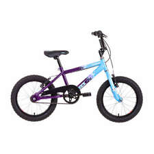 "Raleigh Extreme Kick 16"" Wheel Kids Girls Boys BMX Bike Purple/Blue Single Speed"