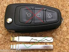 FORD REMOTE FLIP KEY BLADE C-MAX FOCUS MONDEO RANGER TRANSIT CUT TO CODE PICTURE